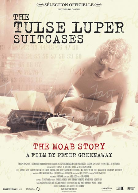 "poster for ""Tulse Luper Suitcases, The - The Moab Story"" by Peter Greenaway (2003)"