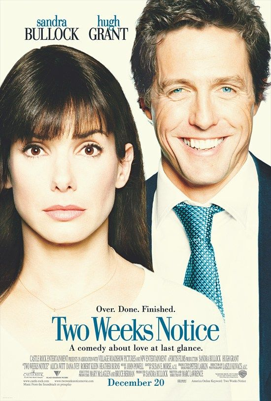 "poster for ""Two Weeks Notice"" by Marc Lawrence (II) (2002)"