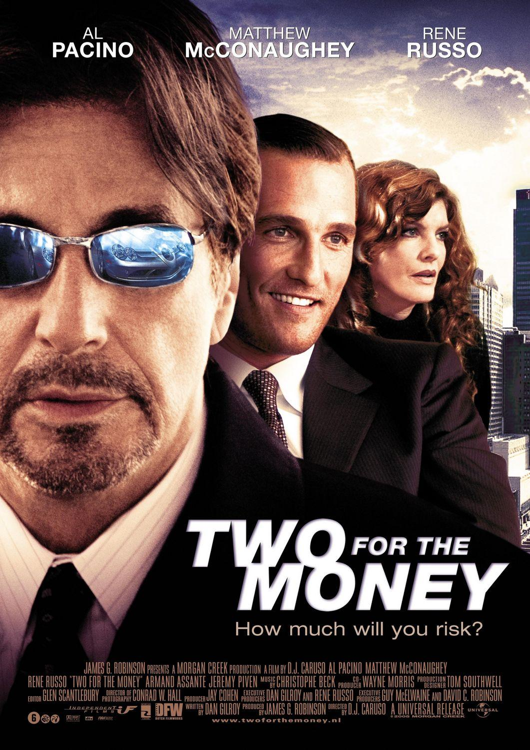 "poster for ""Two For The Money"" by D.J. Caruso (2005)"