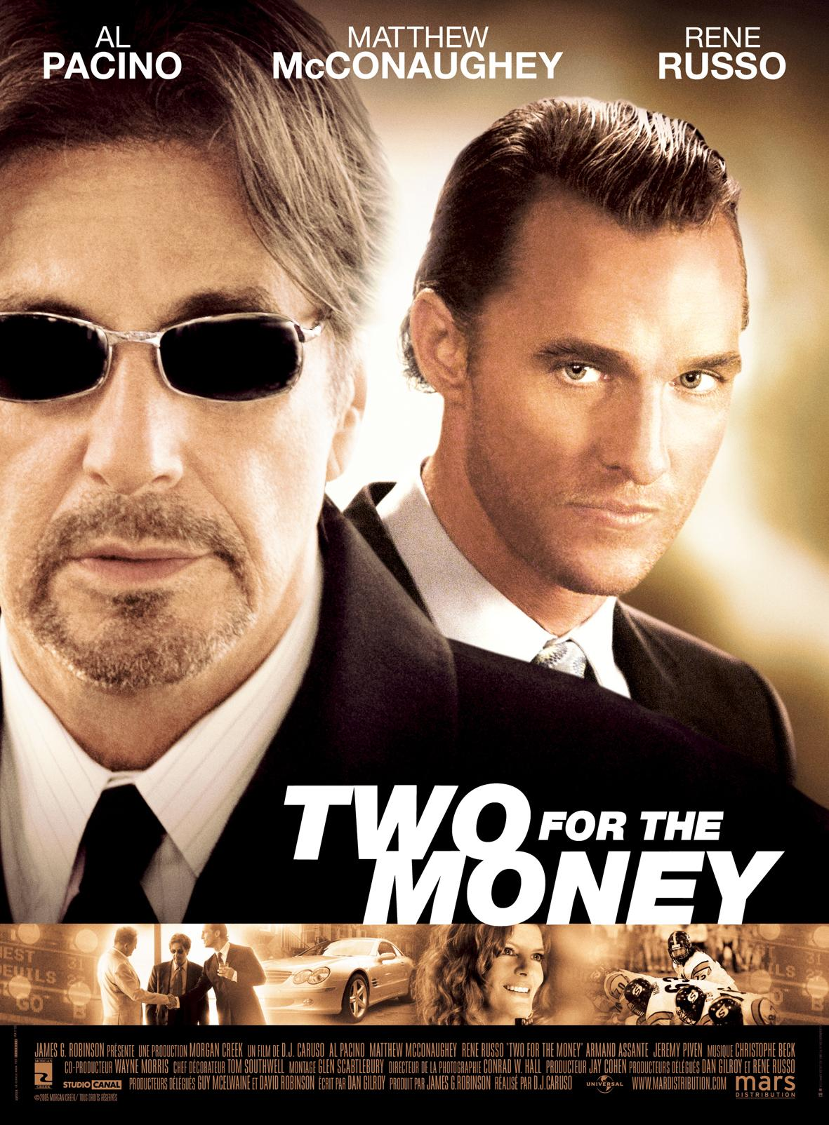 "poster for ""Two For The Money"""