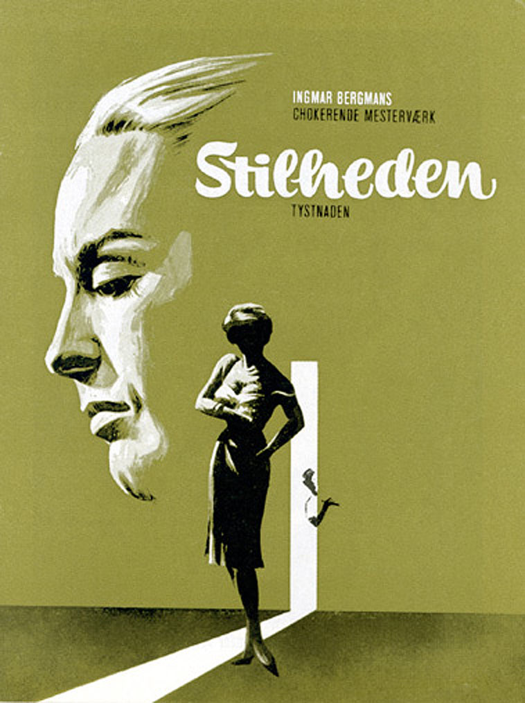 "poster for ""Tystnaden (The Silence)"" by Ingmar Bergman (1963)"