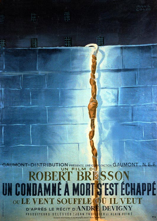 "poster for ""Un condamn� � mort s'est �chapp�"" by Robert Bresson(1956)"