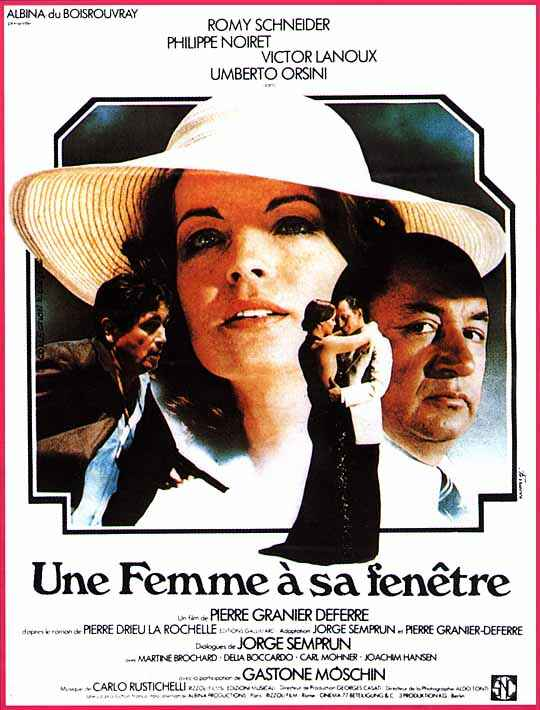 "poster for ""Une Femme � sa fen�tre"" by Pierre Granier-Deferre (1976)"