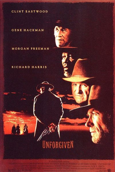 "poster for ""Unforgiven"" by Clint Eastwood(1992)"
