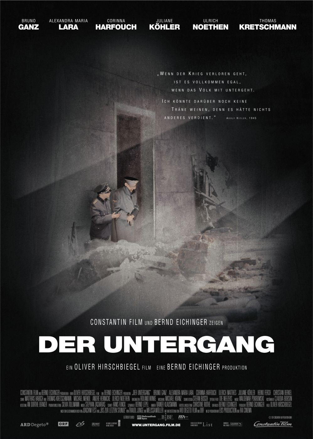 "poster for ""Untergang, Der"" by Olivier Hirschbiegel(2004)"