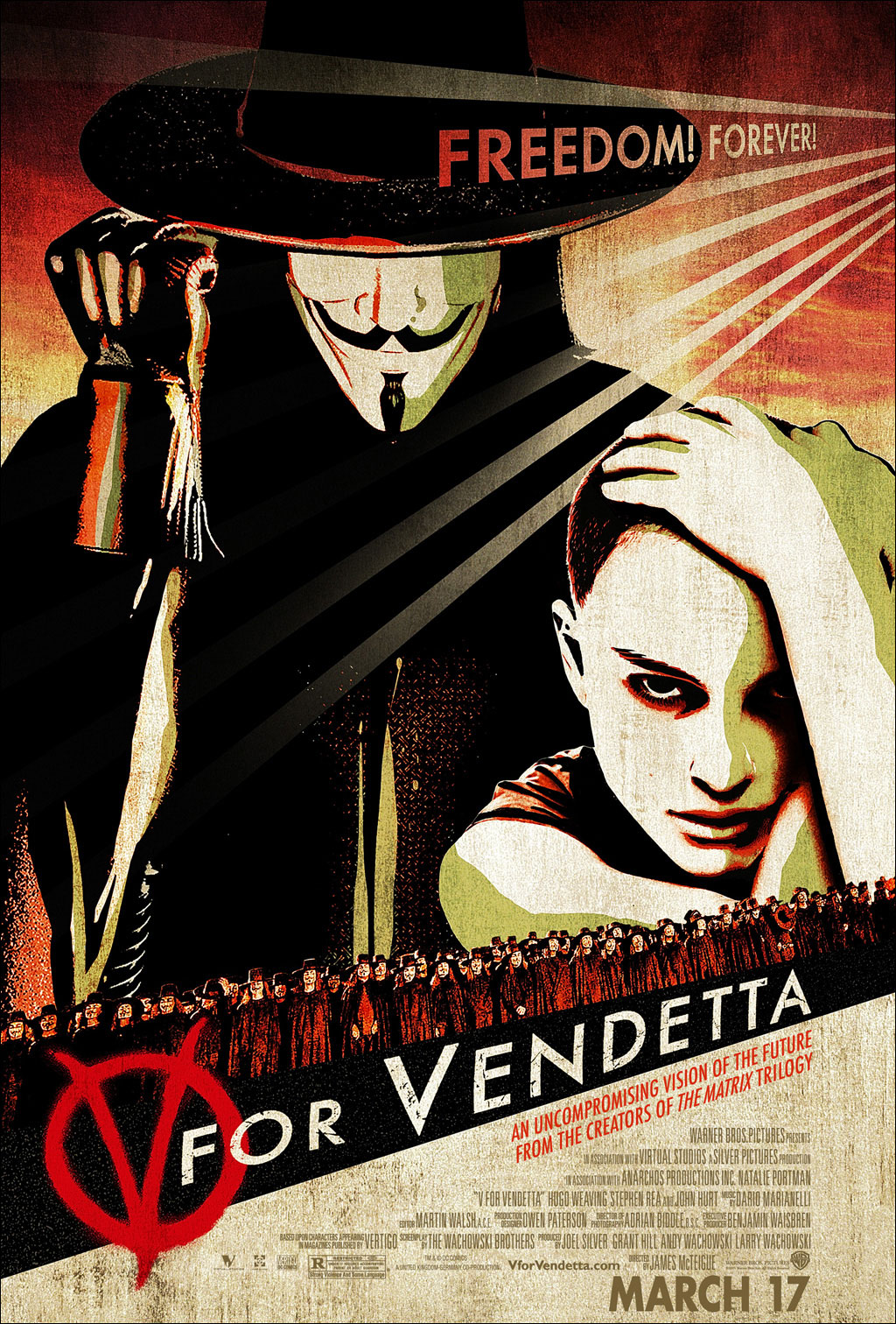 "poster for ""V for Vendetta"" by James McTeigue(2005)"