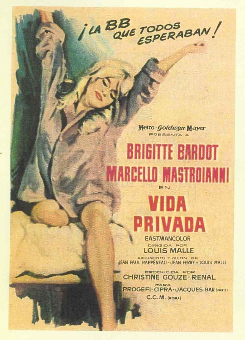 "poster for ""Vie Priv�e"" by Louis Malle(1962)"