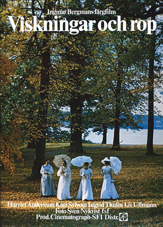 "poster for ""Viskningar Och Rop (Cries & Whispers)"" by Ingmar Bergman (1972)"