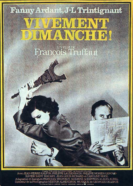"poster for ""Vivement Dimanche! (Confidentially Yours)"" by Fran�ois Truffaut(1983)"