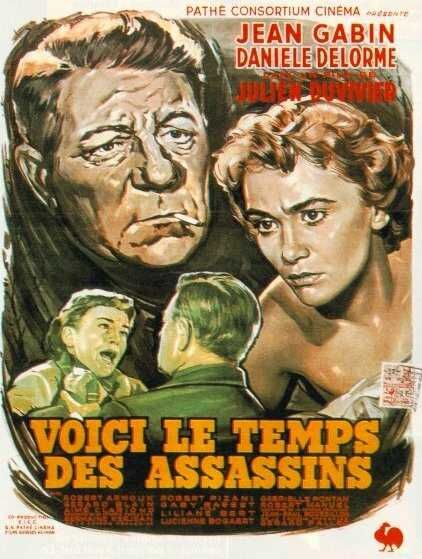 "poster for ""Voici le Temps des Assassins"" by Julien Duvivier (1956)"