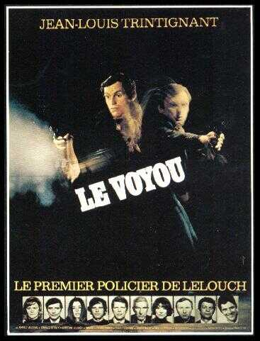 "poster for ""Voyou, Le"" by Claude Lelouch (1970)"