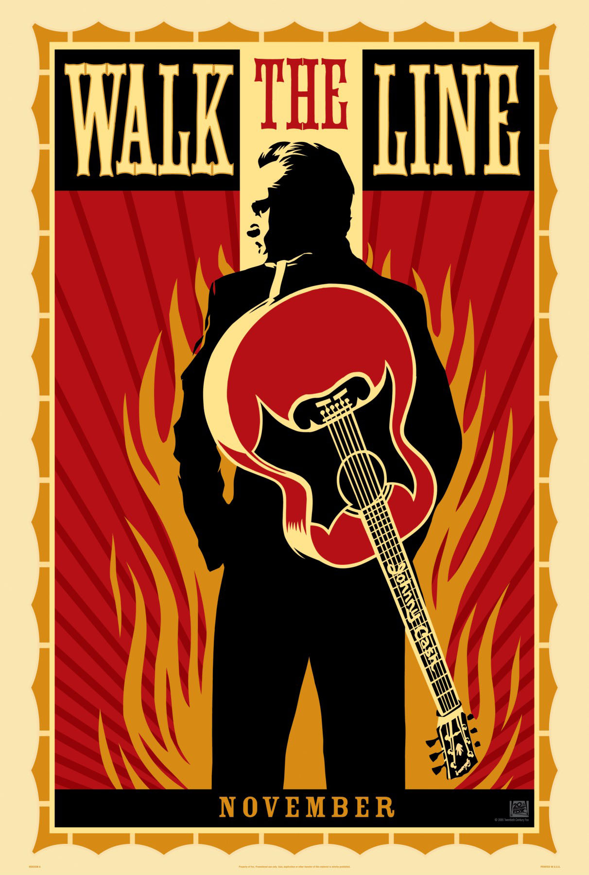 "poster for ""Walk The Line"" by James Mangold (2005)"