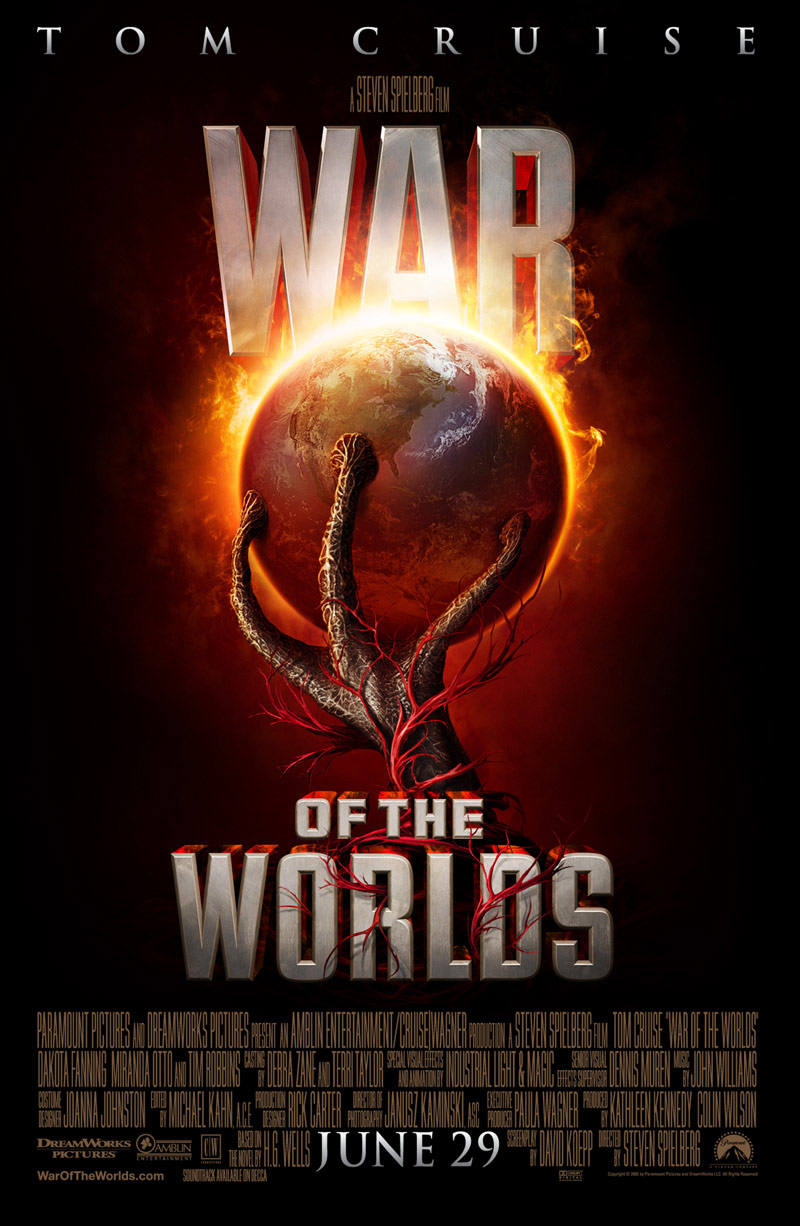 "poster for ""War Of The Worlds"" by Steven Spielberg(2005)"