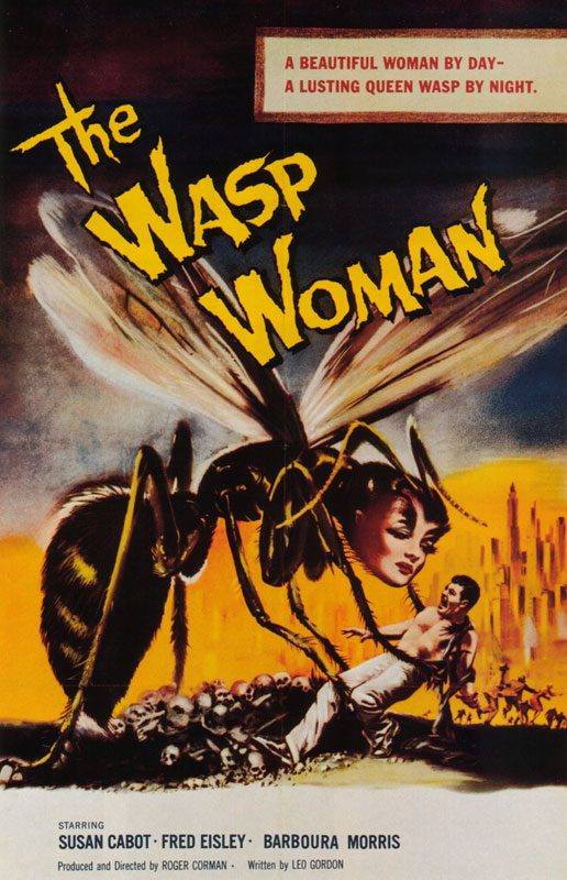 "poster for ""Wasp Woman, The"" by Roger Corman 