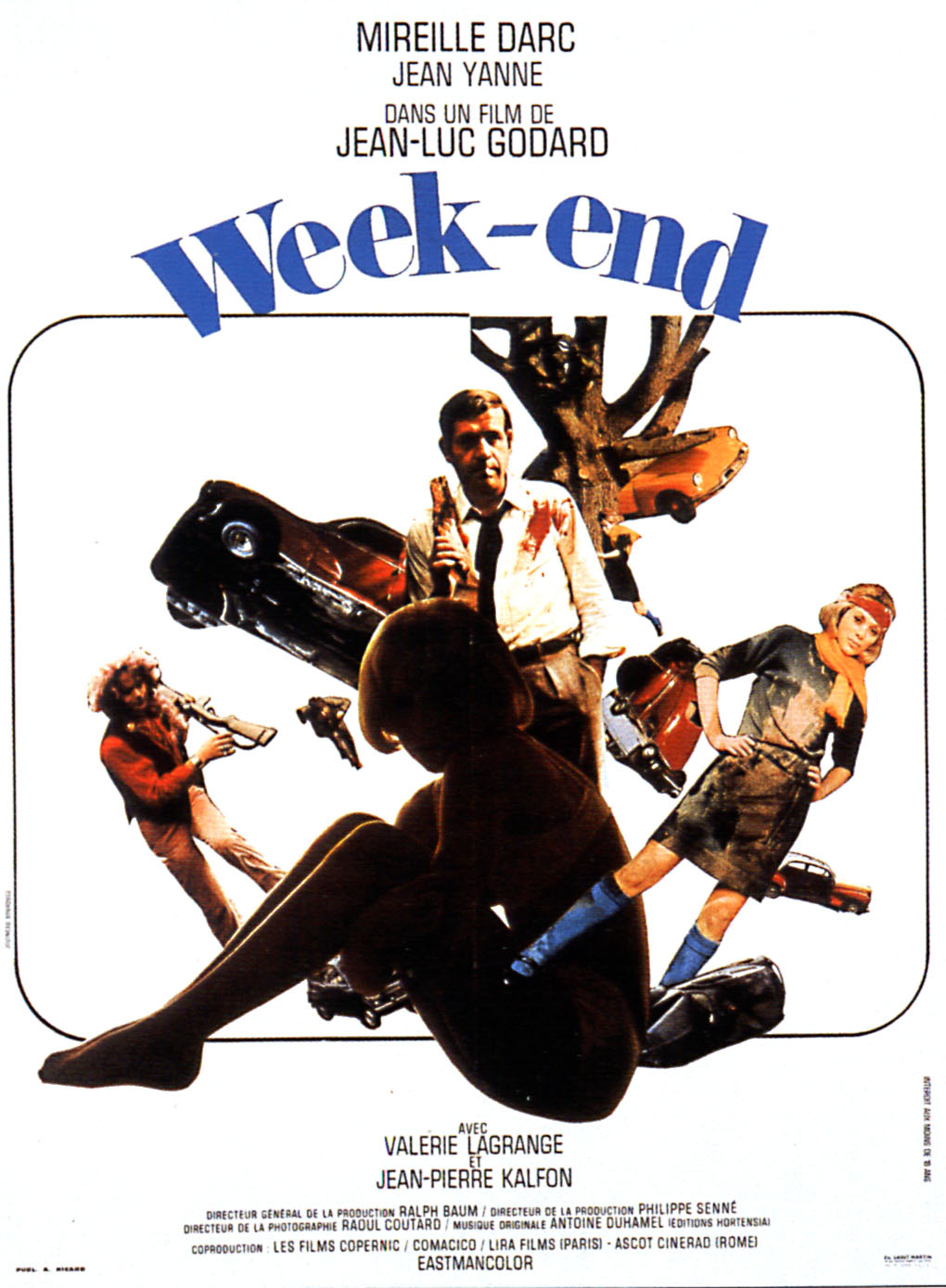 "poster for ""Week End"" by Jean-Luc Godard (1967)"