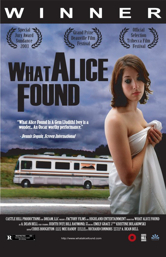 "poster for ""What Alice Found"" by A. Dean Bell(2003)"