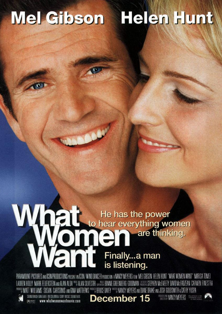 "poster for ""What Women Want"" by Nancy Meyers(2000)"