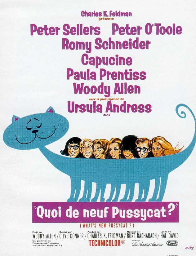 "poster for ""What's New Pussycat"""