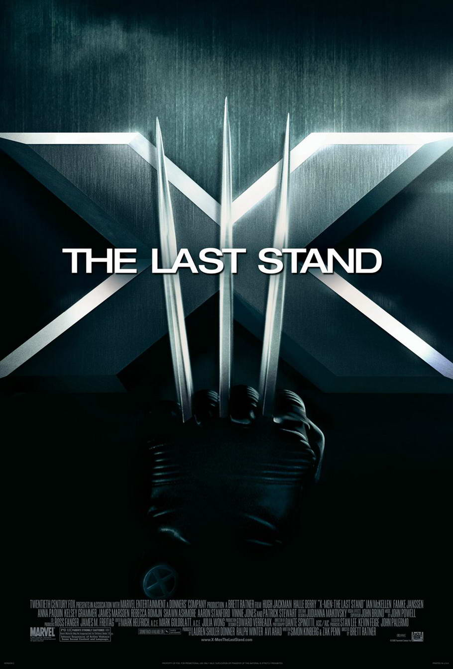 "poster for ""X-Men 3 - The Last Stand"" by Brett Ratner (2006)"