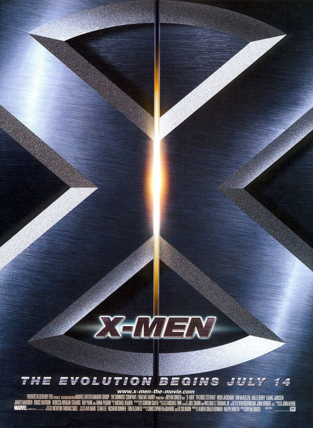 "poster for ""X Men"" by Bryan Singer (2000)"