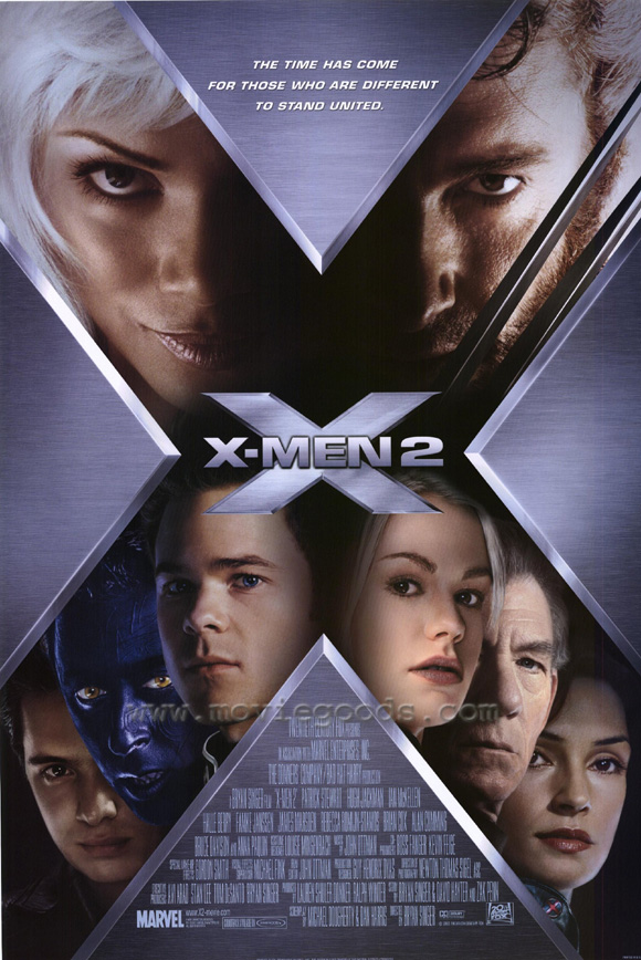 "poster for ""X-Men 2"" by Bryan Singer(2003)"