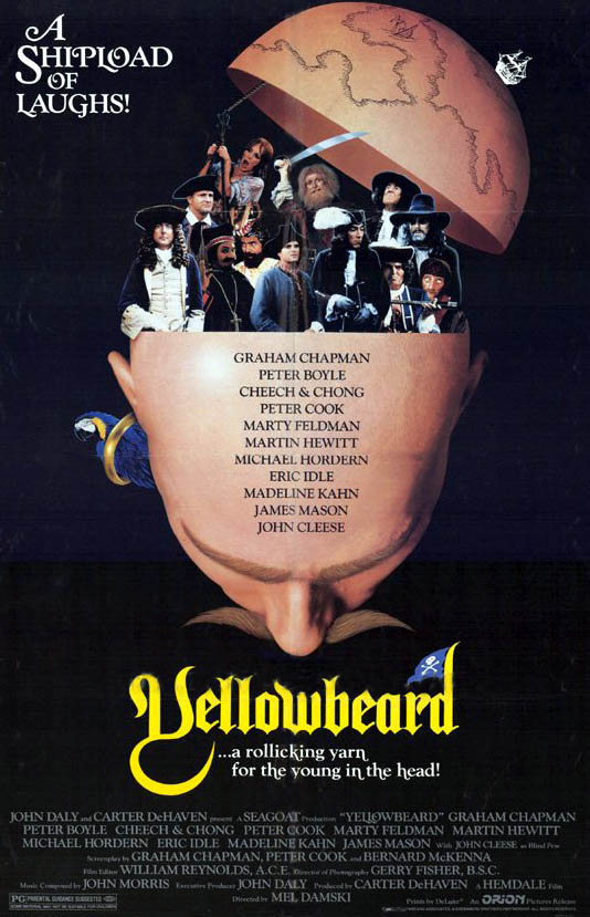 "poster for ""Yellowbeard"" by Mel Damski(1983)"