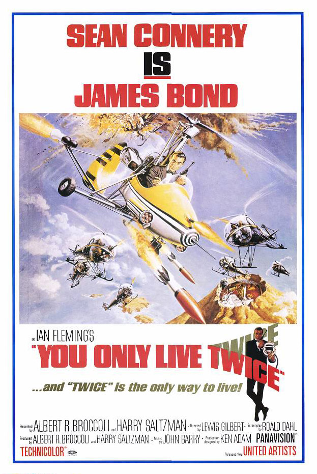 "poster for ""You Only Live Twice"" by Lewis Gilbert(1967)"