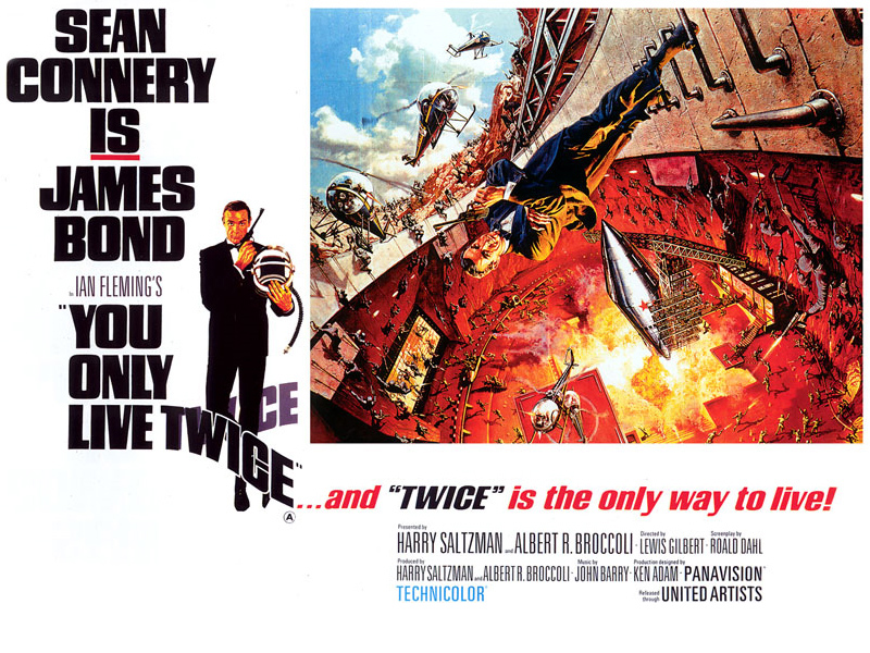 "poster for ""You Only Live Twice&quot"