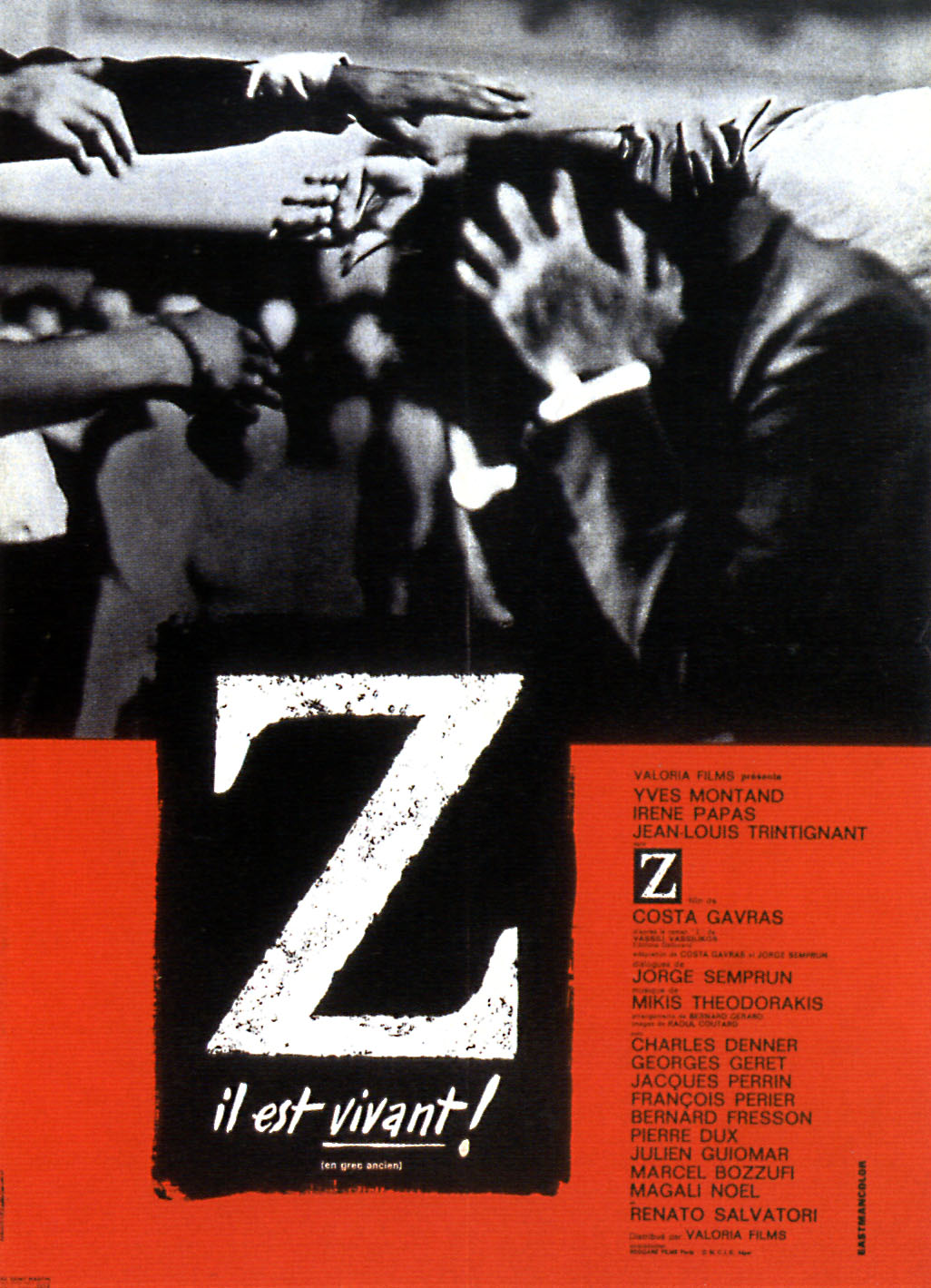 "poster for ""Z"" by Costa-Gavras(1969)"