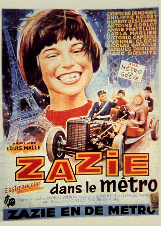 "poster for ""Zazie dans le Metro"" by Louis Malle(1960)"