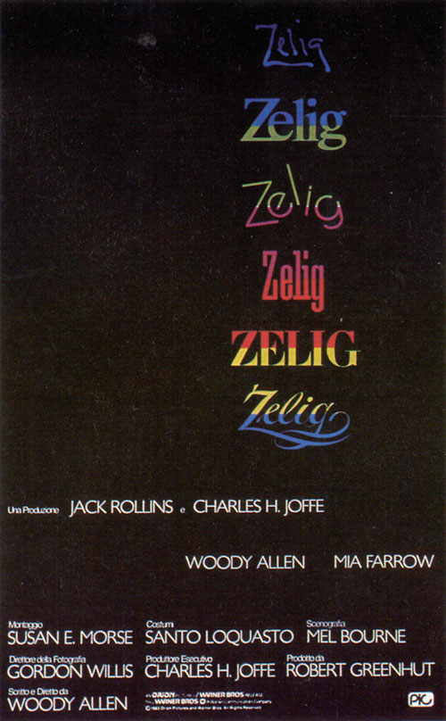 "poster for ""Zelig"" by Woody Allen(1983)"