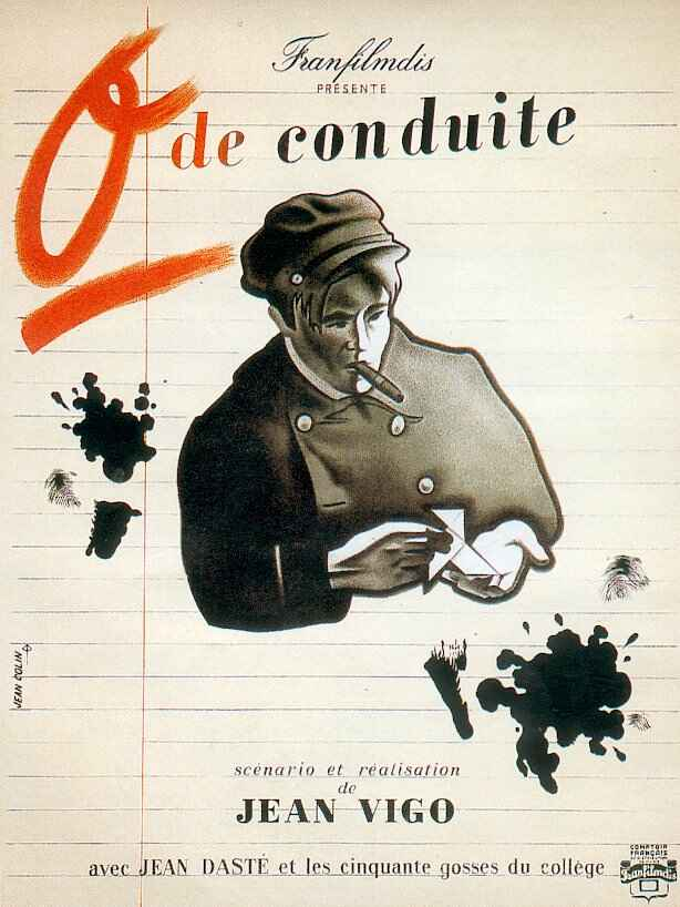 "poster for ""Z�ro de Conduite"" by Jean Vigo(1933)"