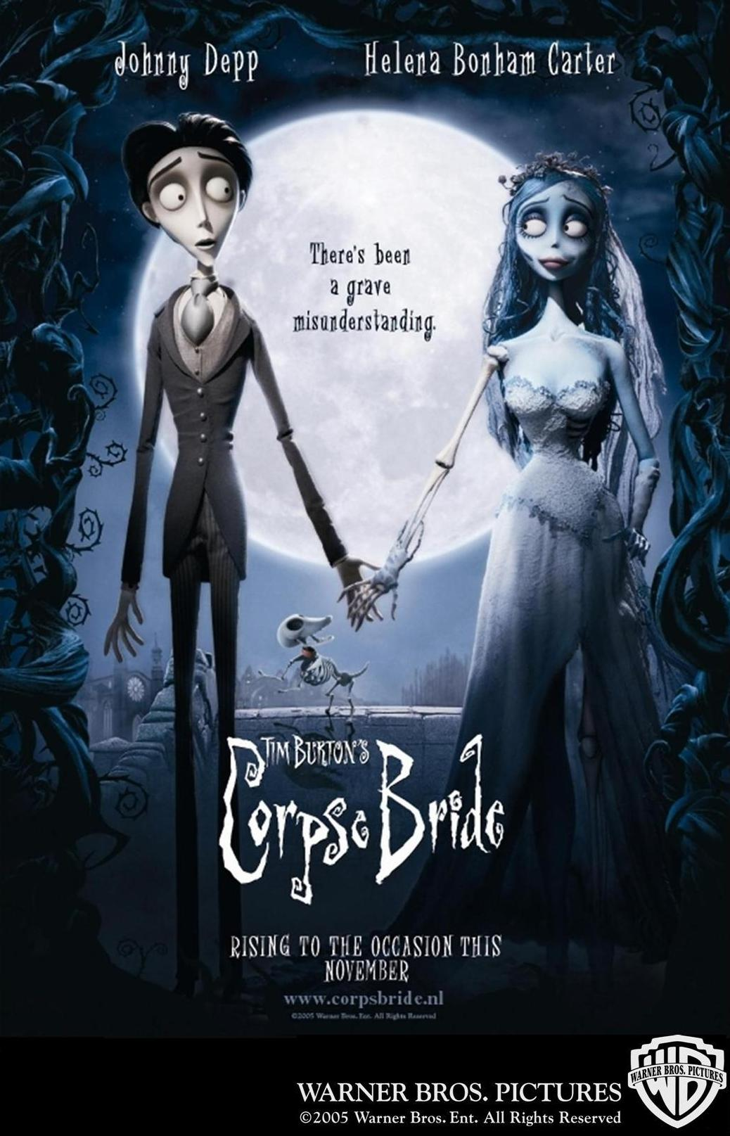 "poster for ""Corpse Bride"" by Tim Burton(2005)"