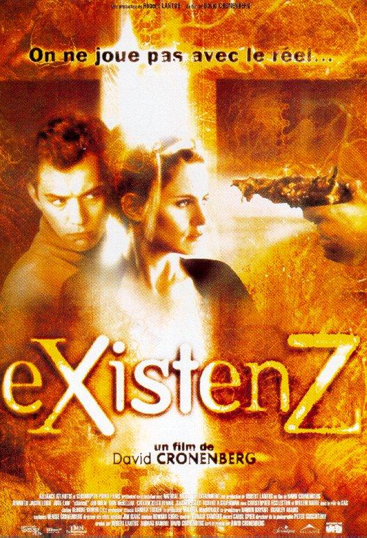 "poster for ""eXistenZ"" by David Cronenberg (1999)"