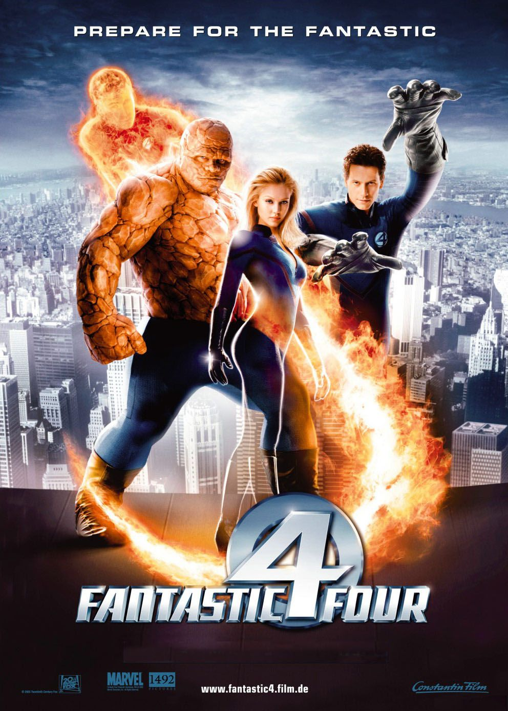"poster for ""Fantastic Four"" by Tim Story(2005)"