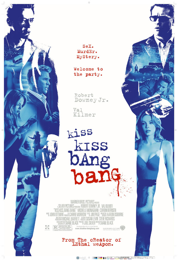 "poster for ""Kiss Kiss Bang Bang"" by Shane Black(2005)"