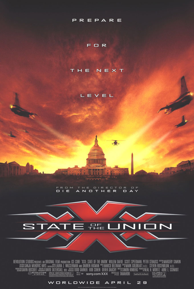 "poster for ""xXx: State of the Union"" by Lee Tamahori(2005)"